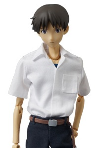 MedicomToy REAL ACTION HEROES Evangelion 2.0 Ikari Shinji School Uniform Edition